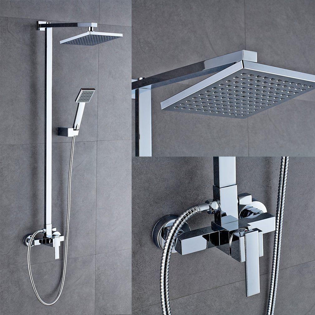 (EU Lager)Duschsystem Modern mit Regenkopf Handbrause