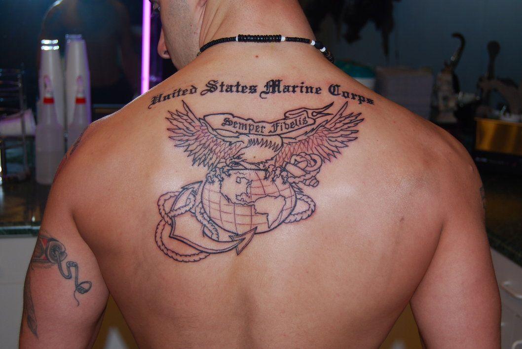 usmc moto tattoo ega eagle globe anchor usmilitary tattoolicious bodyink bodyart ink. Black Bedroom Furniture Sets. Home Design Ideas