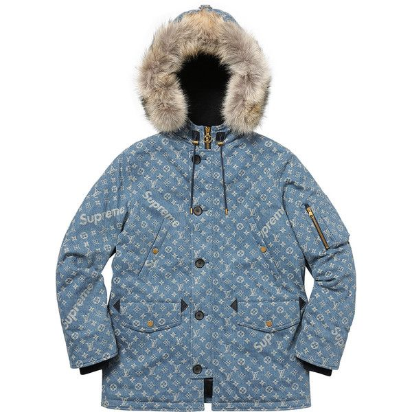 Verrassend Supreme Louis Vuitton/Supreme Jacquard Denim N-3B Parka ❤ liked AP-27