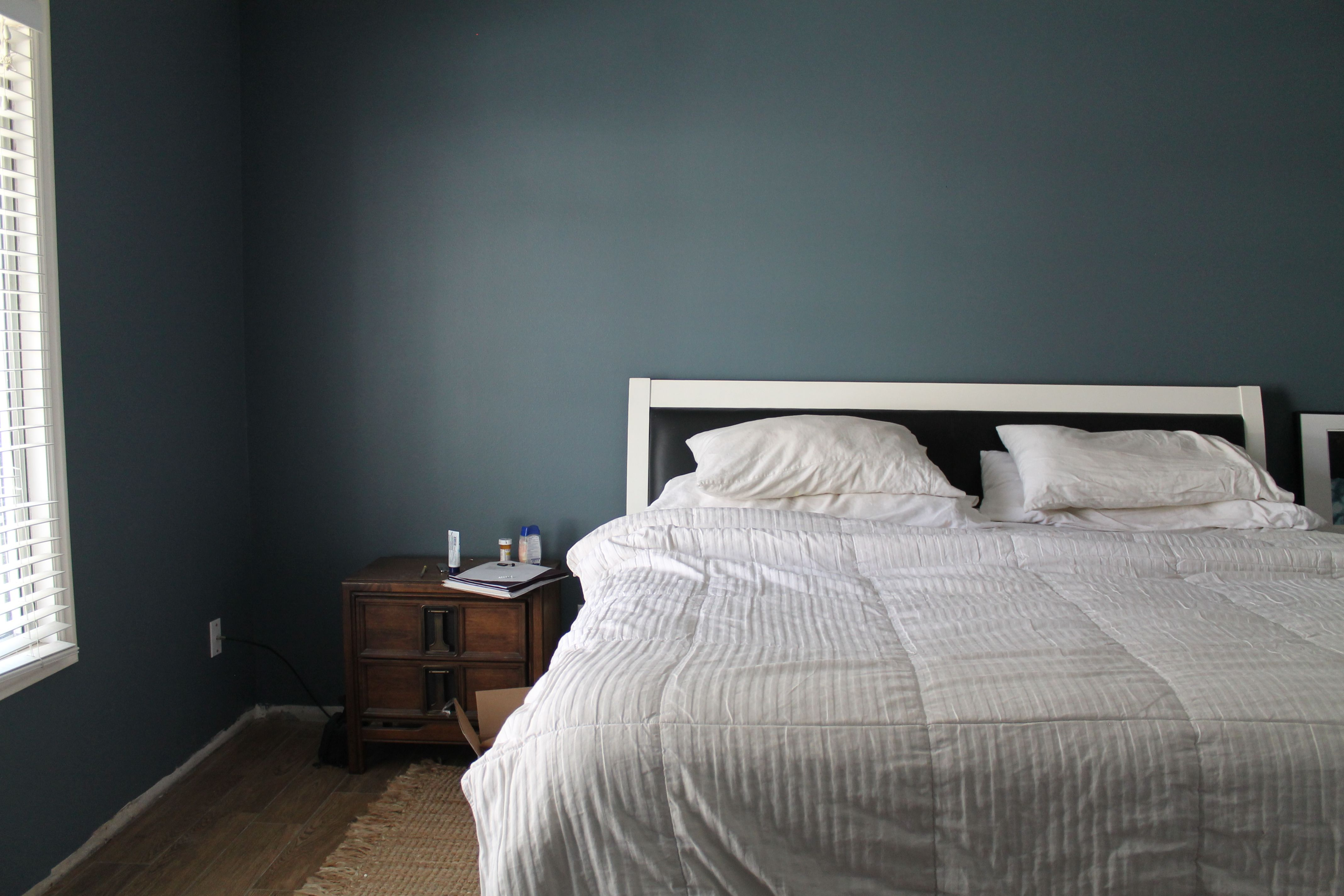 Grey Painted Rooms A Big Cozy Bedroom Update Paints How To Patch Drywall