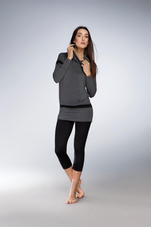64f086444923af Alinamalina Cowl Neck Yoga Tunic - Zen and Yoga Lifestyle Women s Dress -  Gray Yoga Tunic Top by AlinamalinaShop on Etsy