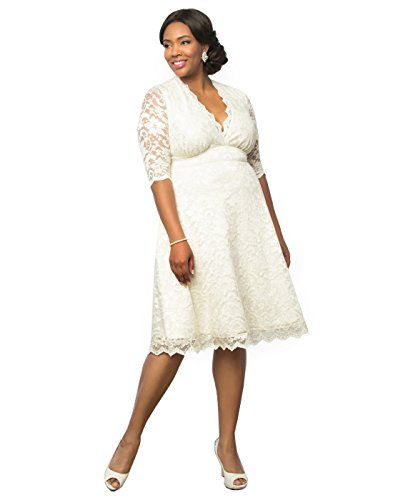 6485f960195d Kiyonna Women s Plus Size Wedding Belle Dress 3X Antique Shimmer ...