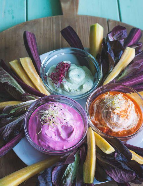 Sour Cream Dip Variationen Snacks Rezepte Pesto Dip Schmand Dip