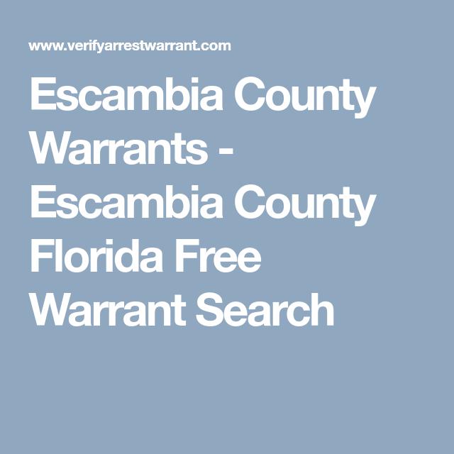 Escambia County Warrants - Escambia County Florida Free