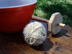 How To Wind A Ball Of Yarn Off A Top Whirl Drop Spindle: tangled happy