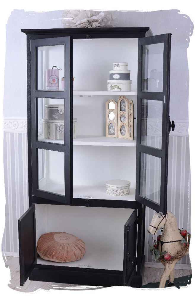 Nostalgie tag re biblioth que vitrine meuble de cuisine for Meuble vitrine ikea