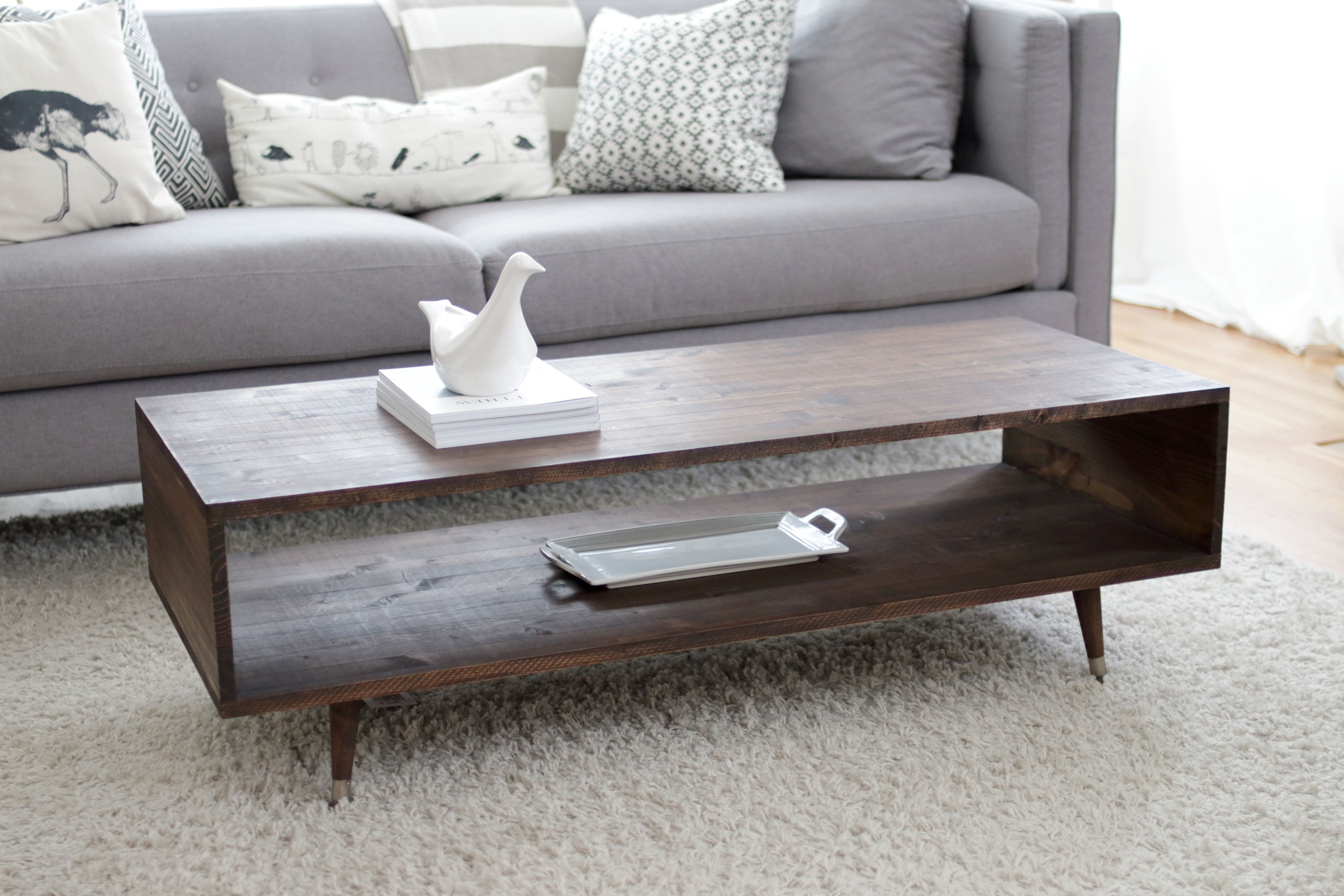 Build Your Own Mid Century Modern Coffee Table For 60 Bay On A Budget Modern Coffee Table Diy Mid Century Modern Coffee Table Coffee Table