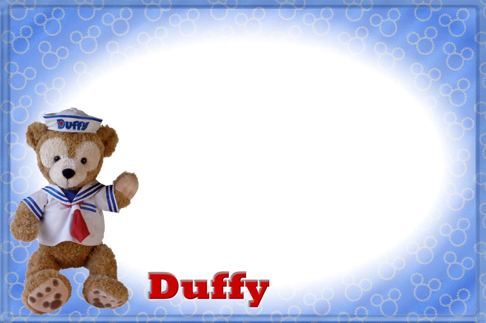 Duffy Bear Autograph Page Disney