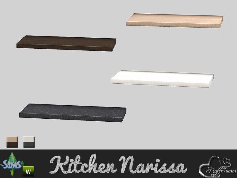Buffsumm S Kitchen Narissa Upper Shelf Shelves Sims