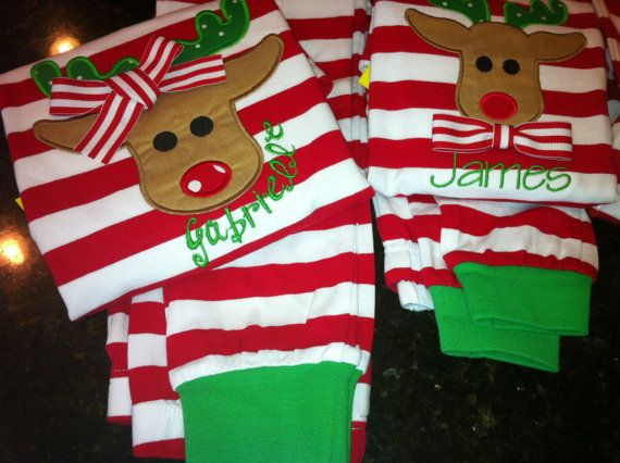 RESERVED Custom Christmas Pajamas PRE-ORDER by LaBarrieLittles ...