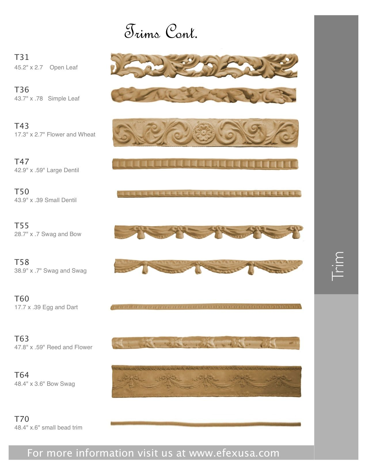 Retail Locations Wood Trim Moldings And Trim Decorative Wood Trim