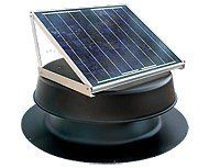 Solar Attic Fan 24 Watt Black With 25 Year Warranty Florida Rated Solar Panels Solar Attic Fan Best Solar Panels