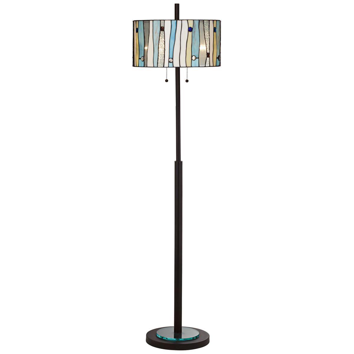Crystal Creek Floor Lamp Dark Bronze Floor Lamp Lamp Glass Floor Lamp