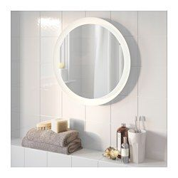 Storjorm Mirror With Built In Light White Dressing Room