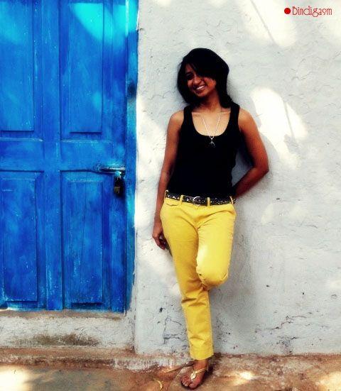 #Yellow #Pants #colorblock