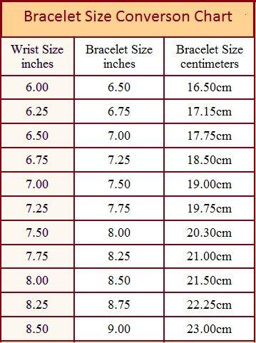 Bracelet Size chart and how to measure | Bracelet size ...