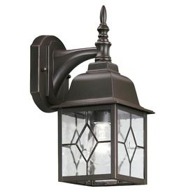 Charming Portfolio Litshire 15 3/8 In H Oil Rubbed Bronze Outdoor