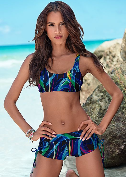 6fdc1556bf Game on! Venus volley bikini top with Venus adjustable side swim ...