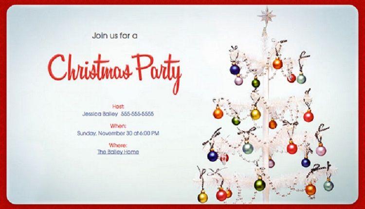 christmas party invitations evite invitation ideas di 2018