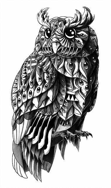 Bioworkz Is A Graphic Artist And Freelance Illustrator Providing Professional Artwork Designs And Illustrati Tatuaggio Gufo Arte Gufi Tatuaggi Impressionanti