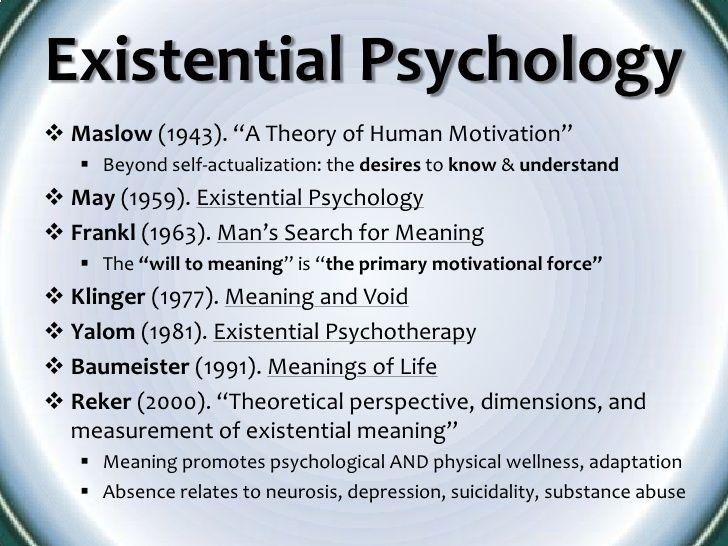 Image result for humanistic existential model psychology ...