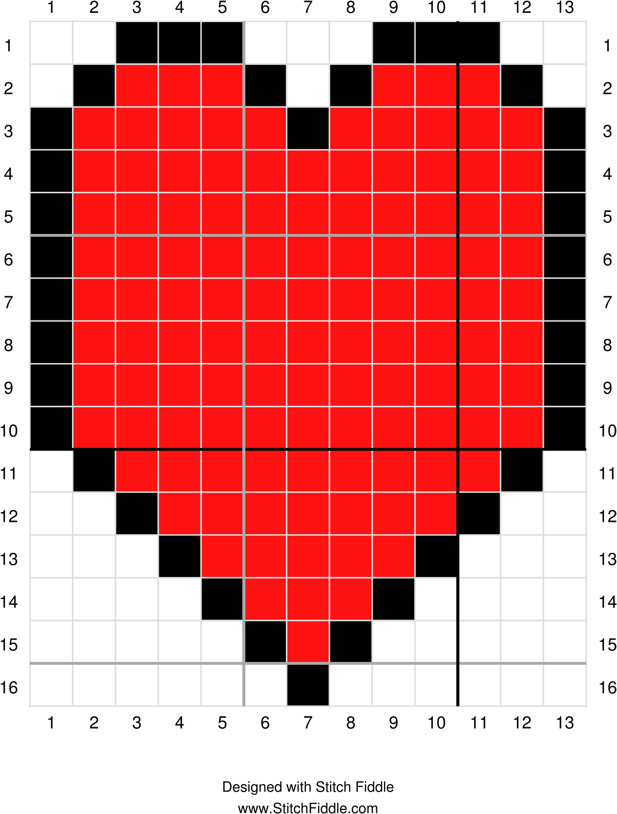Pixel Heart Afghan Square | Afghans, Crocheted afghans and Free crochet