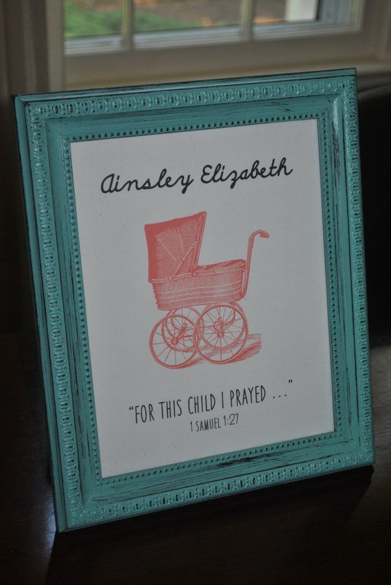 Customizable baby gift sign framed print by JenniferDareDesigns, $37.00