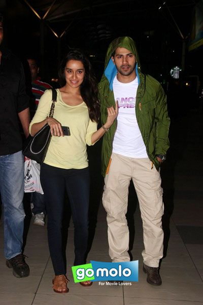 Shraddha Kapoor & Varun Dhawan snapped at Mumbai Domestic Airport