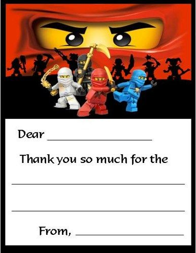 12 Printed Ninjago Fill In Thank You Cards Many Styles Available Lego Ninjago Birthday Ninja Birthday Parties Ninjago Birthday Party