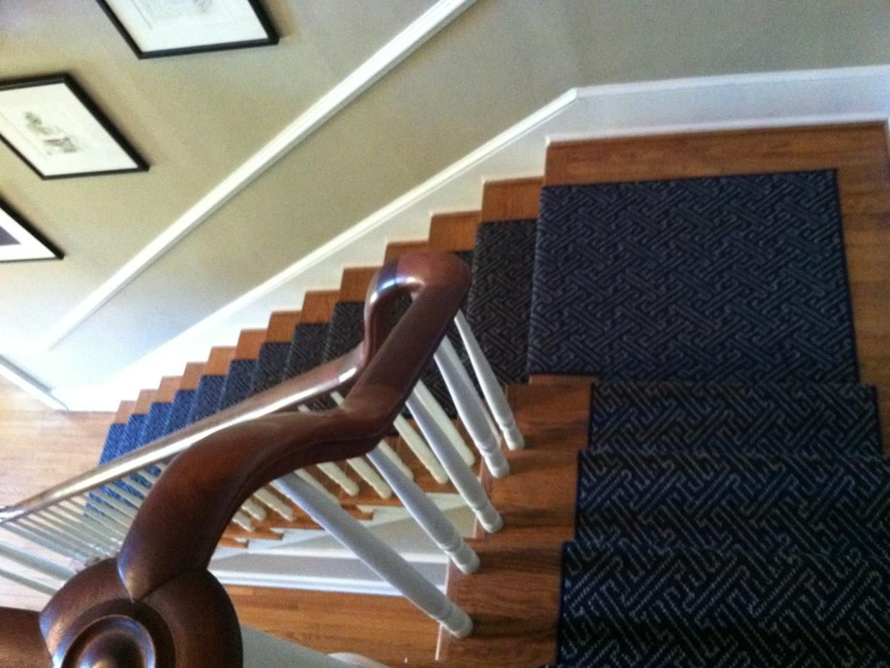 Best Karastan Leighland Stair Runner The Color Shown In Regatta Woven Back And Made Of 100 New 400 x 300