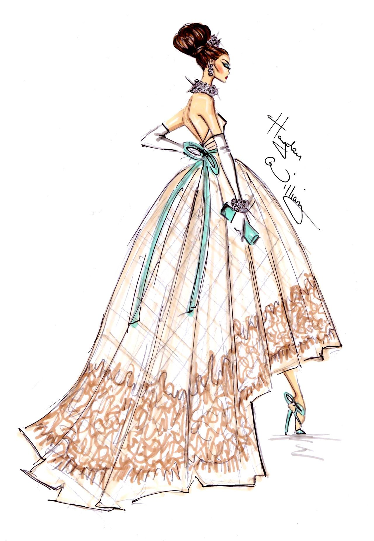 New Year Couture 2013 By Hayden Williams Illustration Fashion Design Fashion Sketches Dresses Fashion Drawing