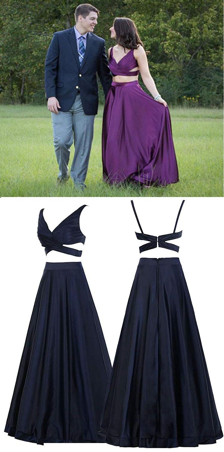 Black two piece prom dresses for women blacktwopiecedresses