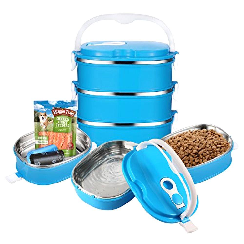 Portable Dog Water Bowl >> Travel Pet Bowl Set Stainless Steel Travel Dog Bowls Portable Dog