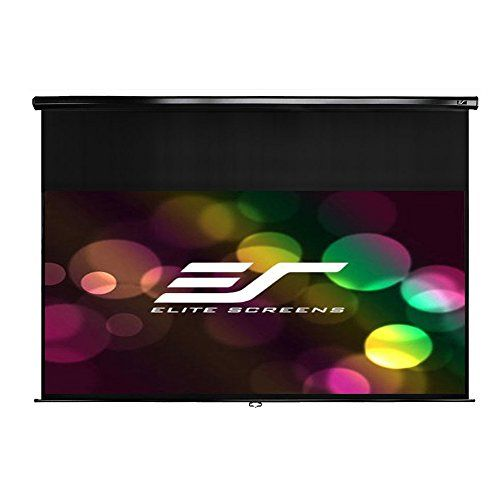 Elite Screens Manual, 128-inch 2.35:1, Pull Down Projection Manual Projector Screen with 20-inch…