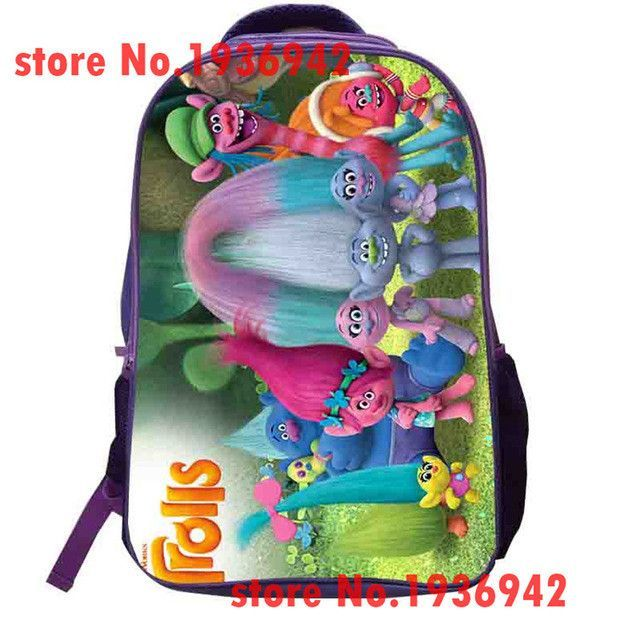 Trolls Backpack Custom Made Poppy School Bags Double Layer Boys Girls Children Bags Men Women Galaxy Animal