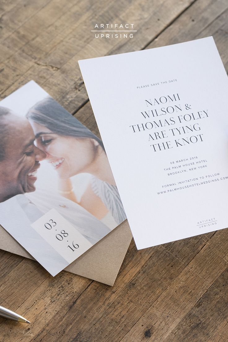 Save the Date Cards | Wedding invitations, Artifact uprising ...