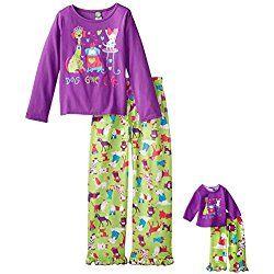 Komar Kids Girls Peanuts 2 Piece Jersey Sleep Set