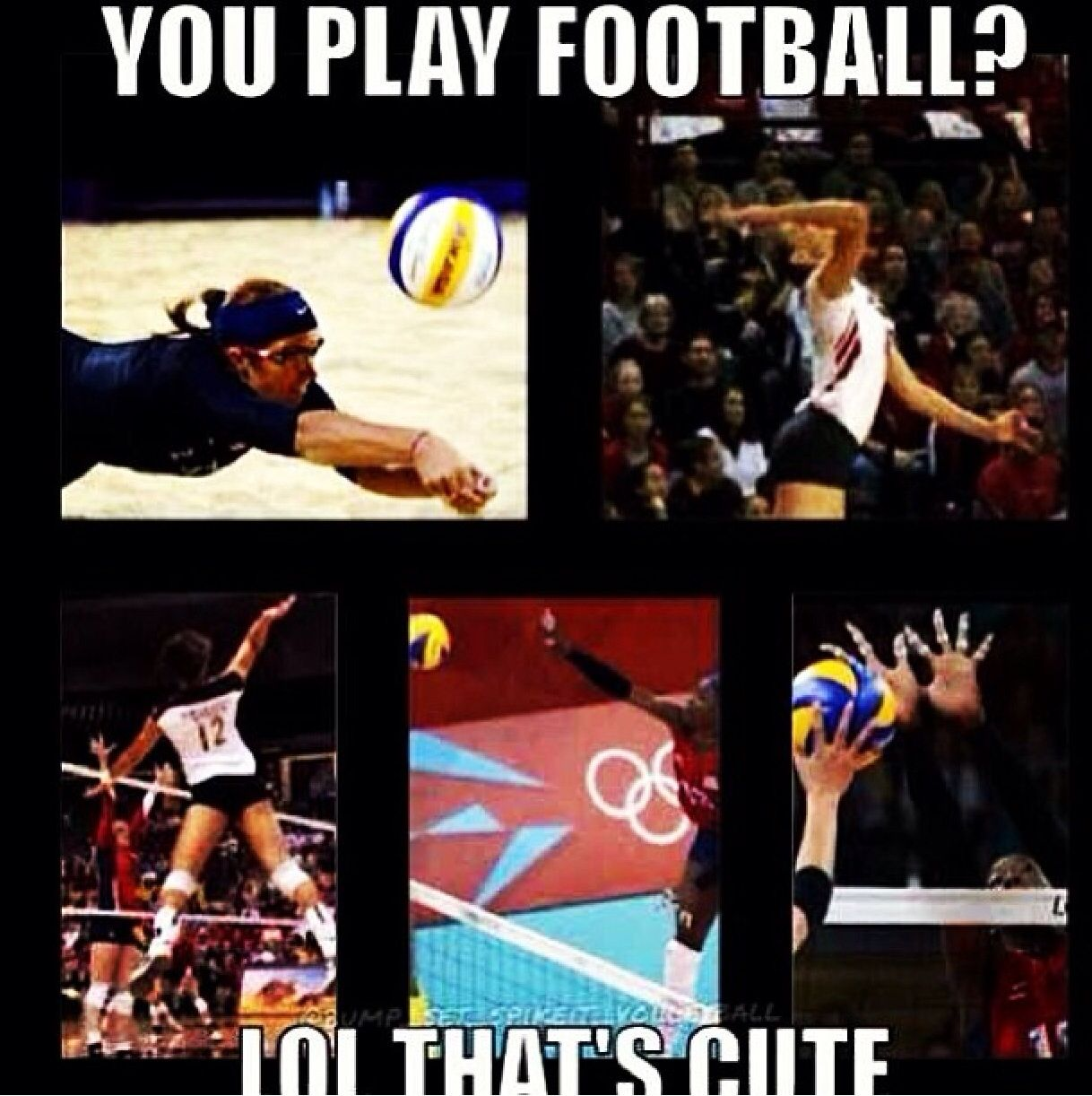 Volleyball Vs Football Volleyballmemes Volleyballquotes Sportquotes Mh Volleyball Play Volleyball Volleyball Memes Volleyball Humor