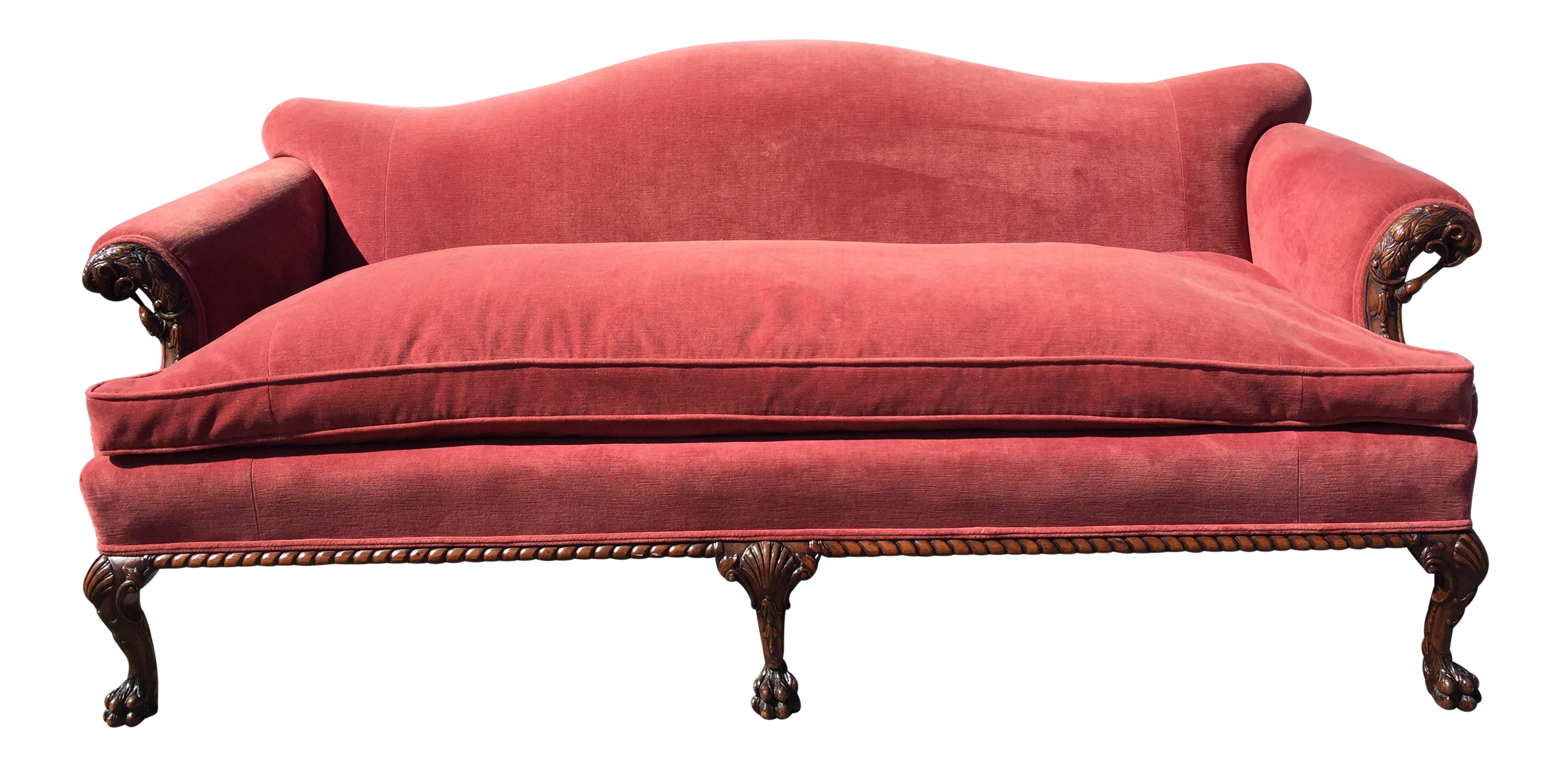 Early 1900s Chippendale Reproduction Sofa Pygmalion Sofa