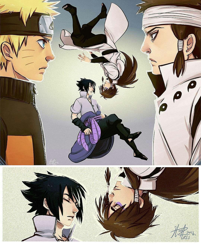 Naruto e Ashura, Sasuke e Indra | Sage of Six Paths | Naruto
