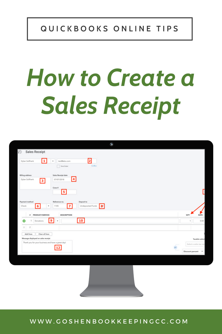 Do You Want To Record A Payment Received At The Time Of The Sale Of Your Products Or Services A Sales Receipt Form Is What Quickbooks Online Quickbooks Online