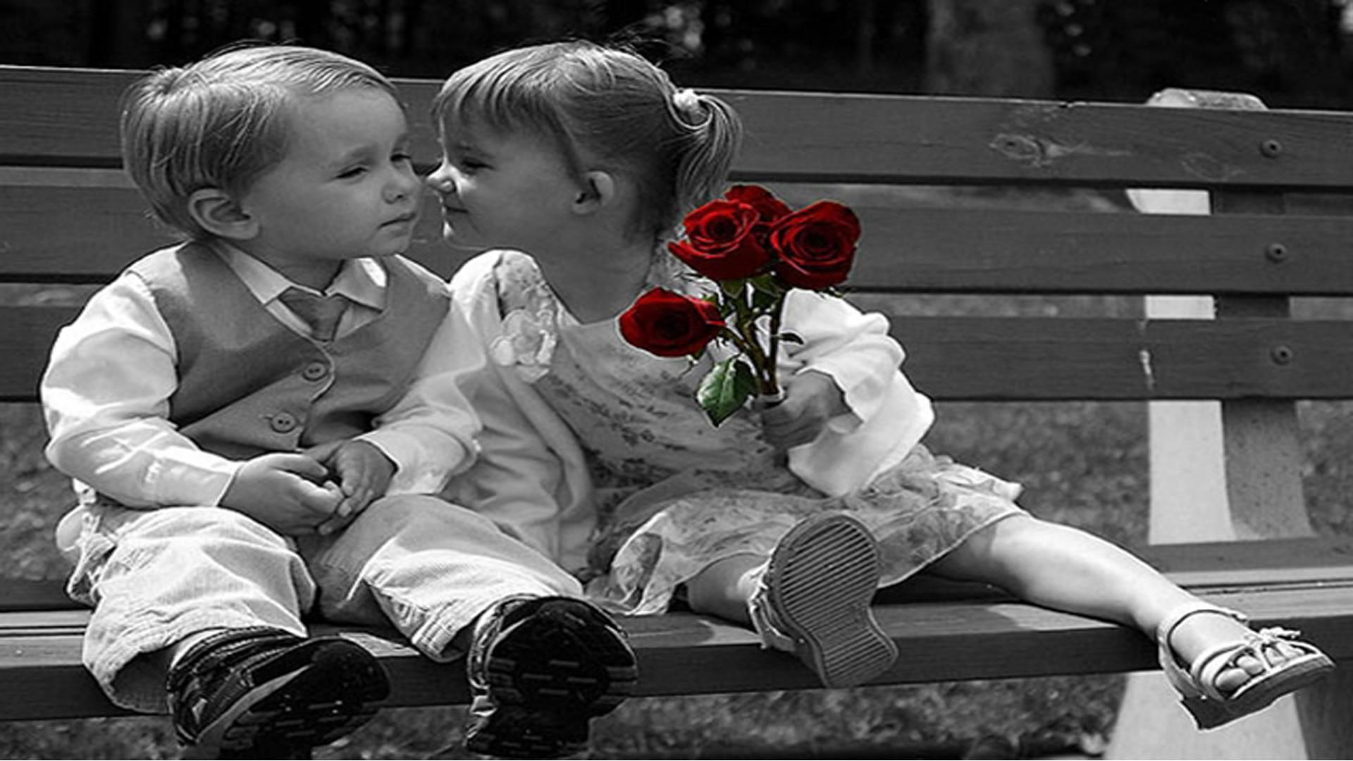 Boy And Girl Kissing Wallpaper Free Download