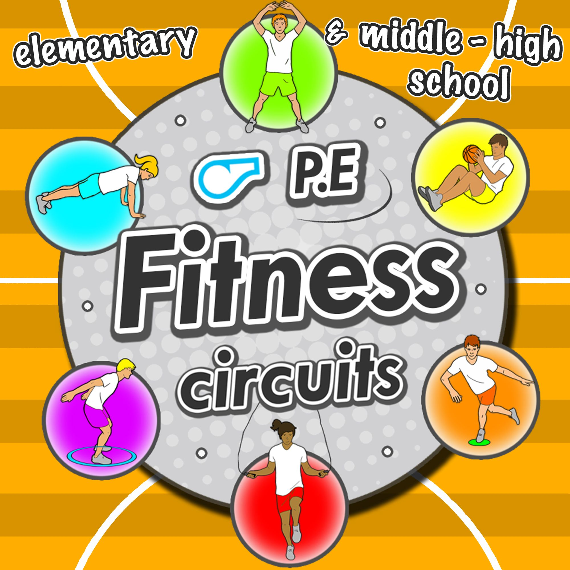 The Fitness Circuit Cards Pack Is A Must Have For Your School Sport Lessons Suitable For Grades K 8 These Exercise Cards Cover The 6 Components Of Fitness