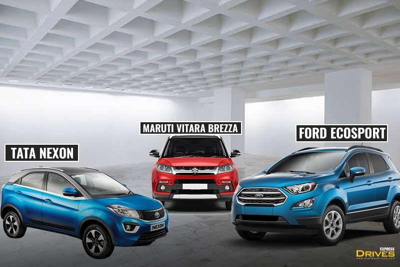 Tata Nexon Vs Maruti Suzuki Vitara Brezza Vs Ford Ecosport Which Cabin Is The Best And Why Ford Ecosport Suzuki