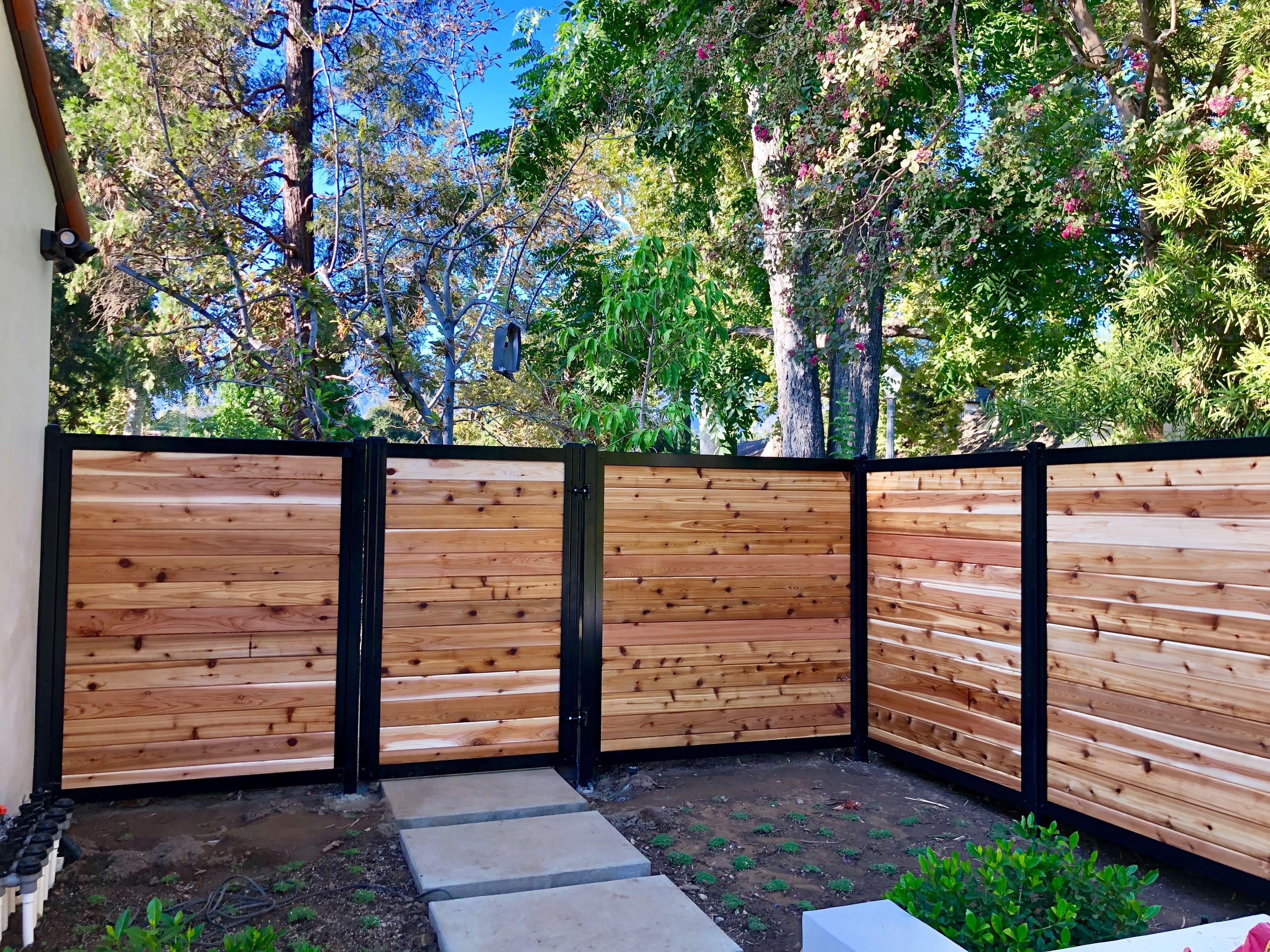 6 Horizontal Infill Landscape Design Small Fence Design Small Garden Design
