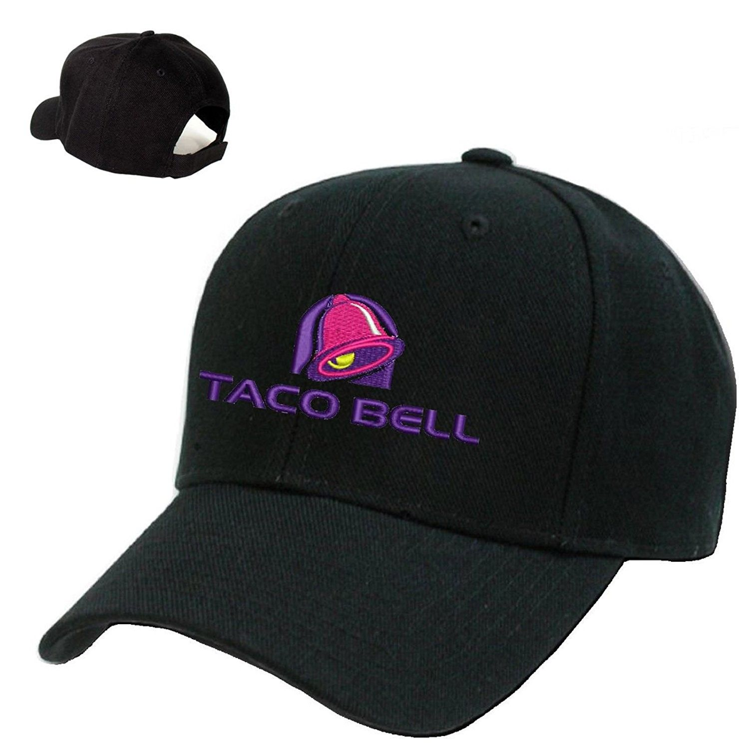 eae6c20a88044  TACO BELL  Black Embroidery Adjustable Baseball cap Souvenier Gift Unique  Hat - CS127AIBUGX - Hats   Caps