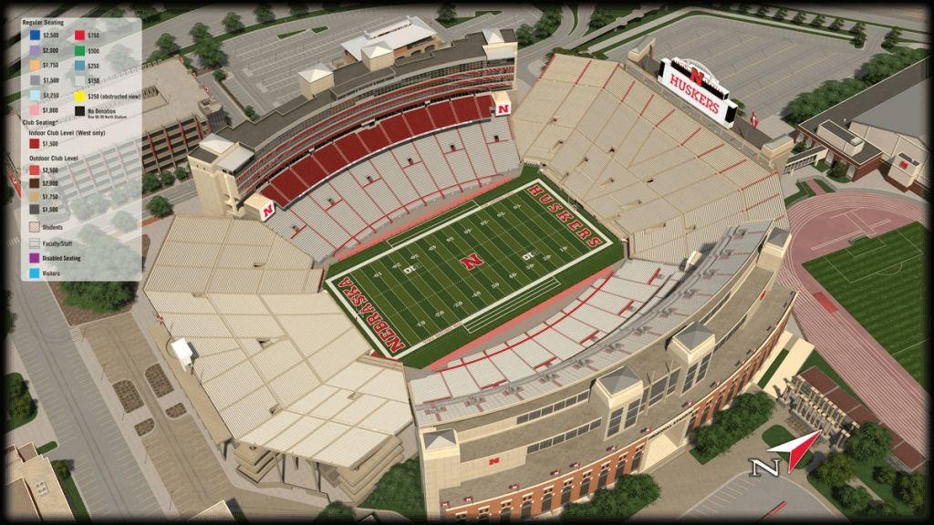 Elegant As Well As Lovely Nebraska Memorial Stadium Seating Chart Seating Charts Nebraska Football Husker Football