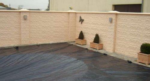 40m Betonzaun + MONTAGE Gartenzaun Gartenmauer Muster
