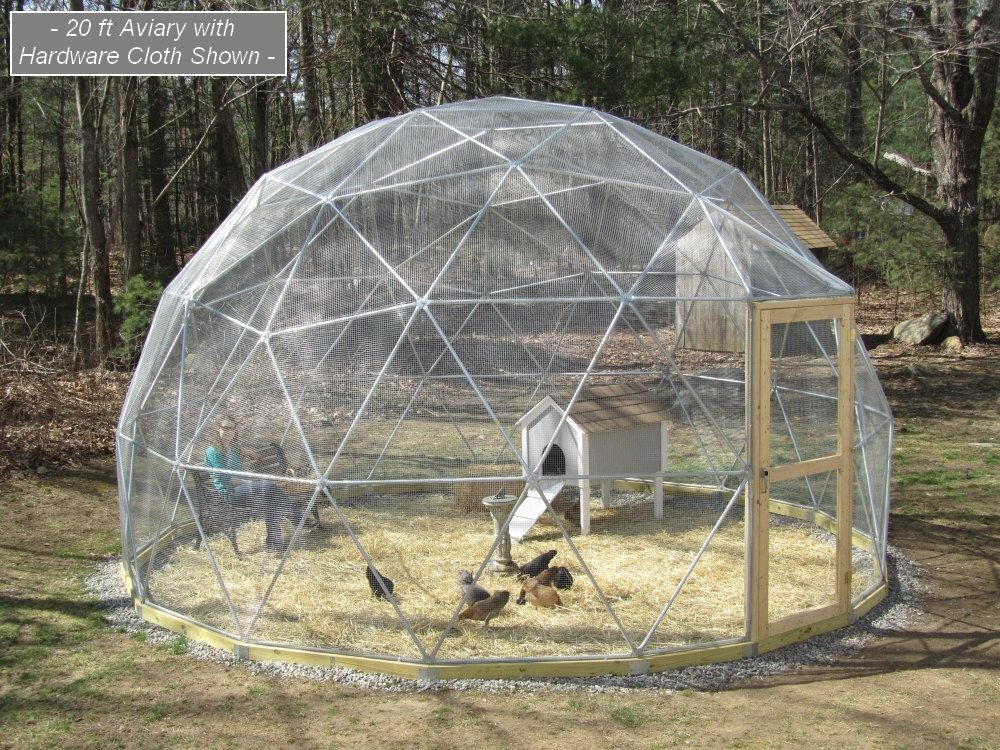16 ft geodesic dome outdoor aviary flight cage animal pen with avian netting geod tische. Black Bedroom Furniture Sets. Home Design Ideas