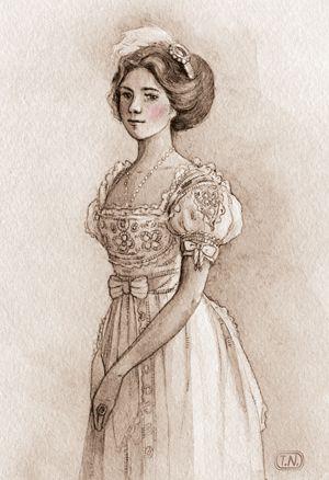my lady   Natalia Tyulkina #watercolor #illustration